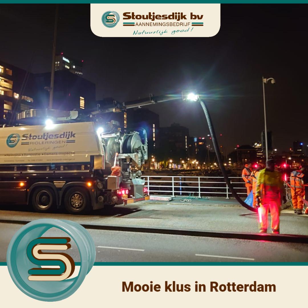 Reinigen van bruggen in Rotterdam